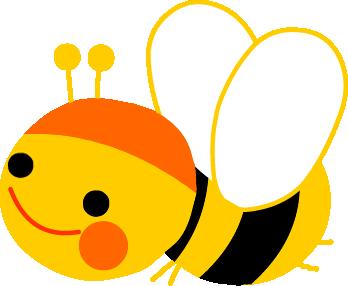 無料イラスト みつばち ミツバチ のイラスト 無料素材