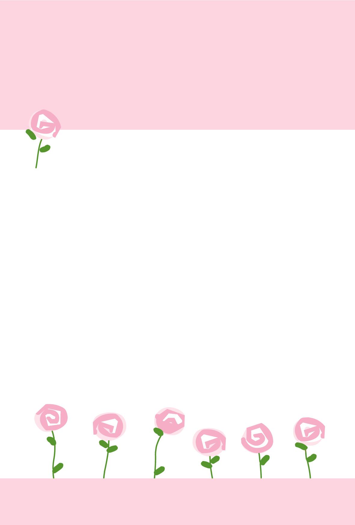 イラストはがき(ポストカード)無料素材・お花