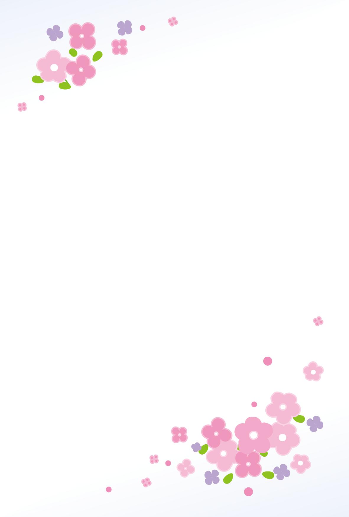 はがき背景(年賀状)無料素材/小花