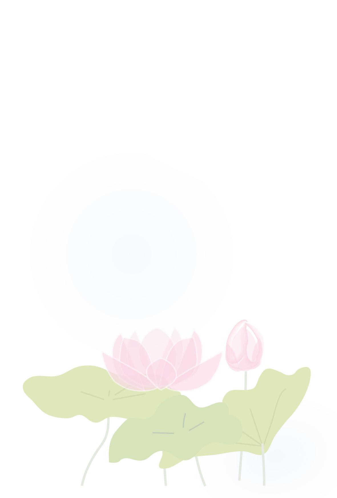 喪中はがき無料ダウンロード/蓮の花デザイン喪中はがき